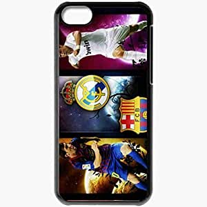 Personalized iPhone 5C Cell phone Case/Cover Skin Messi vs ronaldo 2012 Black