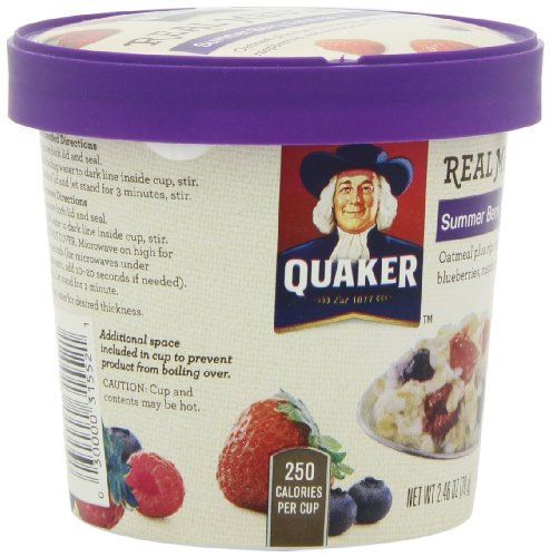 030000315521 - Quaker Real Medleys Oatmeal+, Summer Berry, Instant Oatmeal+ Breakfast Cereal, 2.46 oz Cup (Pack of 12) carousel main 10