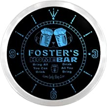 ncp1093-b FOSTER'S Home Bar Beer Pub LED Neon Sign Wall Clock
