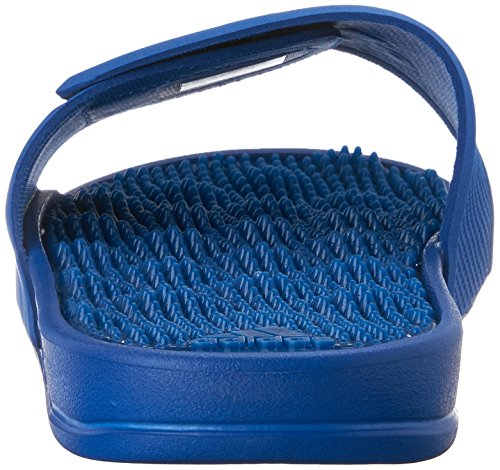Adidas Performance Mens Adissage 2 M Logo Sandalo Blu / Bianco / Equipaggiamento Blu