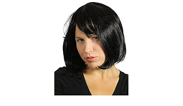 Amazon.com: My Costume Wigs Womens Pulp Fiction Wig - Mia Wallace (Black) One Size fits all: Clothing