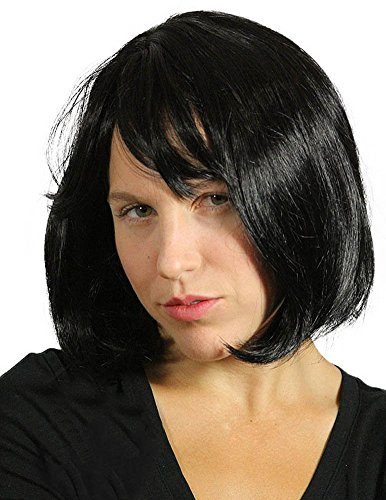 My Costume Wigs Women's Pulp Fiction Wig - Mia Wallace (Black) One Size fits all -