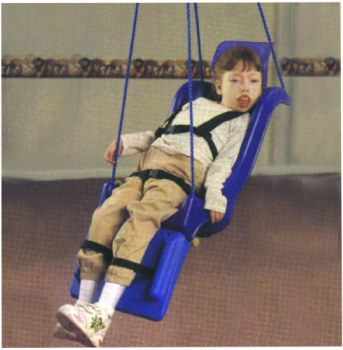 Skillbuilders 30-1640 Full Support Swing Seat with Pommel Head and Leg Rest with Rope, Small (Child) by Skillbuilders