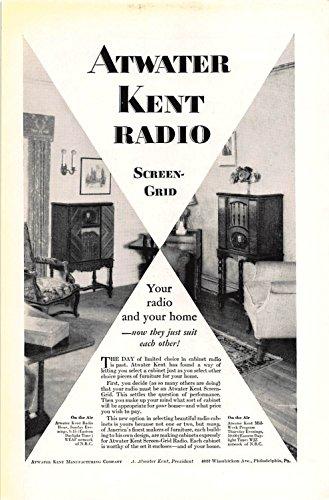 Print Ad 1929 Atwater Kent Manufacturing Radio