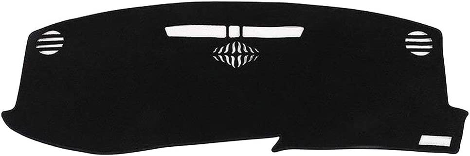 Yeeoy New Black Dash Mat Dashboard Cover Carpet Custom Replacement for Cadillac XT5 2016 2017 2018 2019