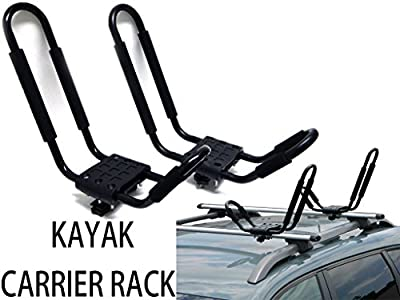 9sparts® UNIVERSAL J SHAPE CROSS BAR KAYAK SNOWBOARD SKI SURFBOARD WAKEBOARD PADDLE BOARD RACK CARRIER CAR TRUCK SUV ROOF TOP MOUNT