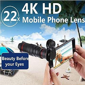 Mobilez Orsda HD 4K 22x Zoom telefoto Lente telescopio teléfono ...