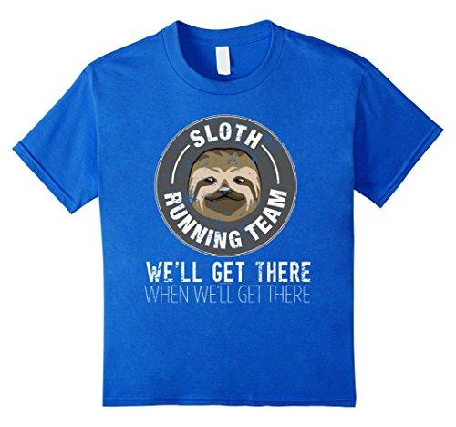 Sloth Running Team Running Gag Gift I Love Running Shirt -