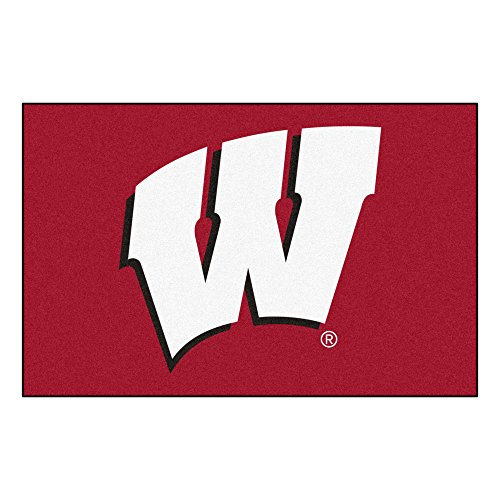 FANMATS NCAA University of Wisconsin Badgers Nylon Face Starter Rug (Badgers Wisconsin Carpet)
