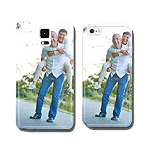 Seniors couple having fun in the summer cell phone cover case iPhone5