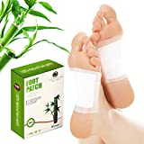 Bamboo Foot Pads by Joey Health - All Natural Premium Quality Pads, Relieves Stress, Improves Sleep - New Detox Foot Patch Formula Produces a Relaxing and Calming Experience