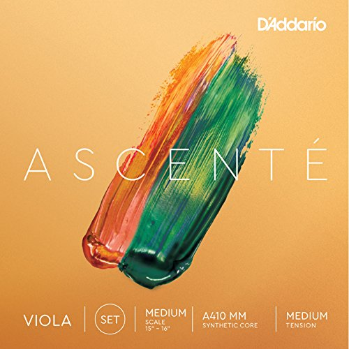 D'Addario Ascenté Viola String Set, Medium Scale, Medium Tension (Viola Spirocore Set)