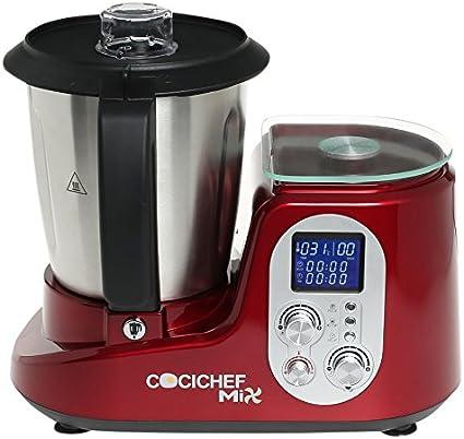 Erika SH-398 Olla eléctrica, 1000 W, 2.5 litros, Acero inoxidable, Rojo: Amazon.es: Hogar