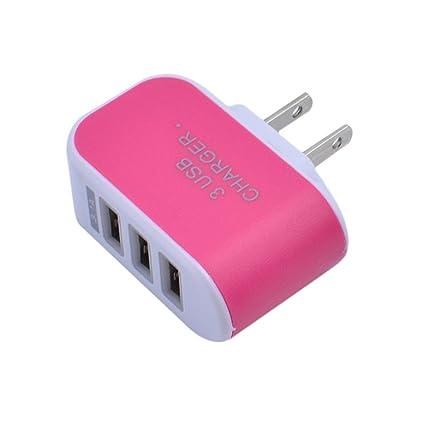 Sonmer Práctico adaptador de cargador de 3 puertos USB para ...