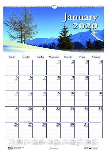 Doolittle Monthly Wall Calendar - House of Doolittle 2020 Monthly Wall Calendar, Earthscapes Scenic, 12 x 16.5 Inches, January - December (HOD378-20)