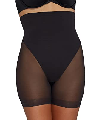 a5c9ccc2e809b TC Fine Intimates Women s Firm Control Sheer Shaping High-Waist Boy Short  at Amazon Women s Clothing store