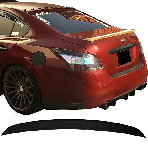 (Pre-painted Trunk Spoiler Fits 2009-2015 Nissan Maxima | ST Style ABS Painted#KH3 Black Obsidian Trunk Boot Lip Wing Deck Lid Other Color Available By IKON MOTORSPORTS | 2010 2011 2012 2013)