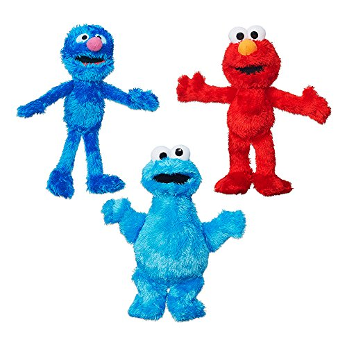 (Sesame Street Plush Bundle featuring Elmo, Cookie Monster and Grover, Ages 12 months and up (Amazon Exclusive))
