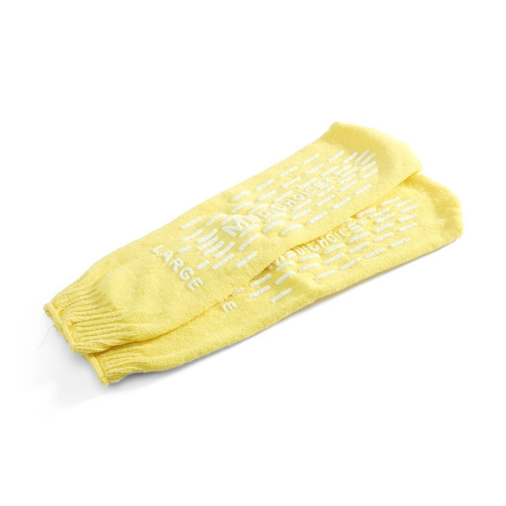 MediChoice Terry Cloth Slippers, Double Tread, Large, Yellow, 1314SLP12DY (Case of 48 Pairs - 96 Total)