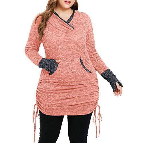 - Ximandi Fashion Women's Casual Plus Size T-shirt Ladies Tunic Tops Blouse w Pocket