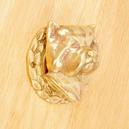 Door Knocker - West Highland Terrier/Puppy's/Dog's Head Design || Vintage Solid Brass Dog Head Door Knocker