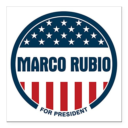 CafePress - Marco Rubio President 20 Square Car Magnet 3