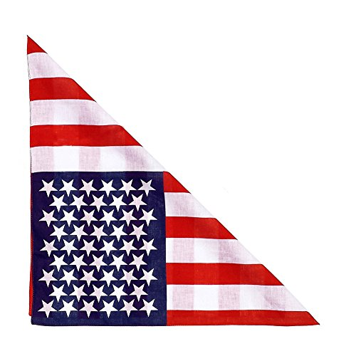 2 Pack Dog Bandana Bibs Scarfs Accessories for Pet-American Flag Bandana for Dogs Large or Small