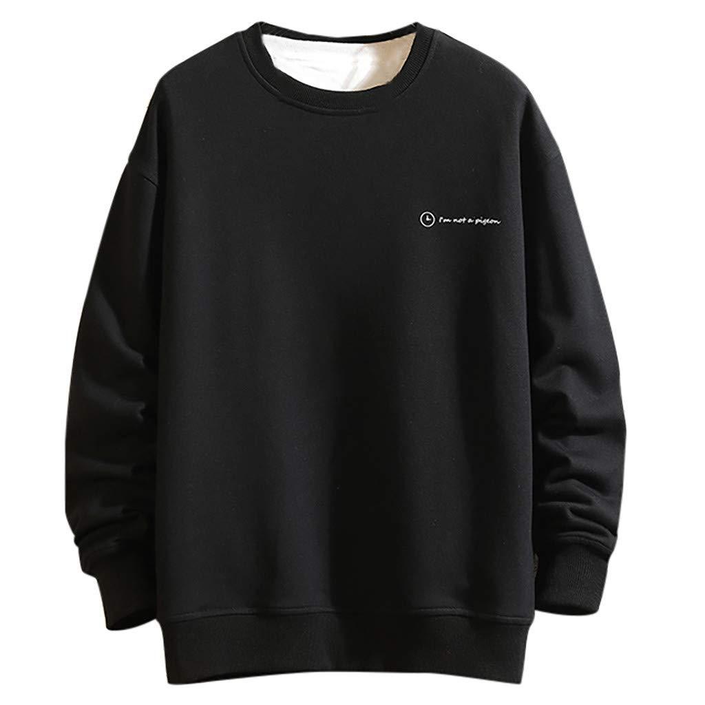 MIS1950s Men's Novelty Sweatshirt Casual Fashion Print O-Neck Long Sleeves Tops Sweater
