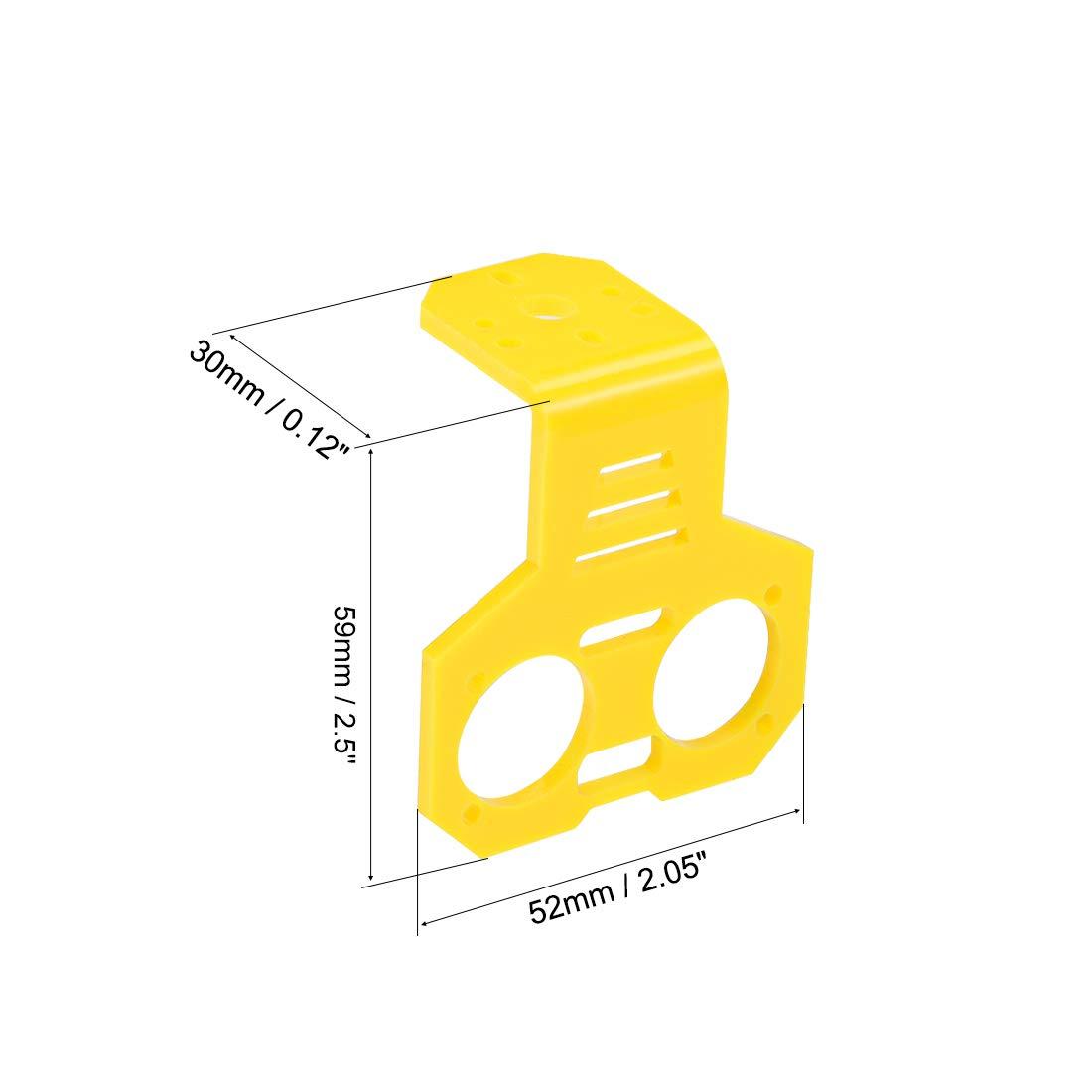 sourcing map Ultraschallsensor Montagehalterung f/ür HC-SR04 rot 1 Set