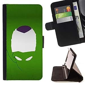 BullDog Case - FOR/Sony Xperia m55w Z3 Compact Mini / - / Minimalist Alien Face /- Monedero de cuero de la PU Llevar cubierta de la caja con el ID Credit Card Slots Flip funda de cuer