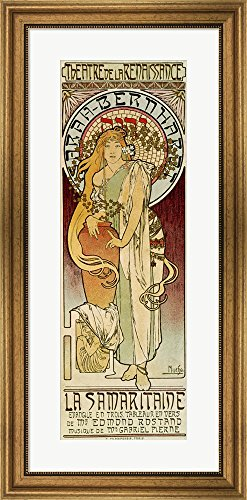 la-samaritaine-paris-1894-by-alphonse-mucha-framed-art-print-wall-picture-wide-gold-frame-17-x-35-in