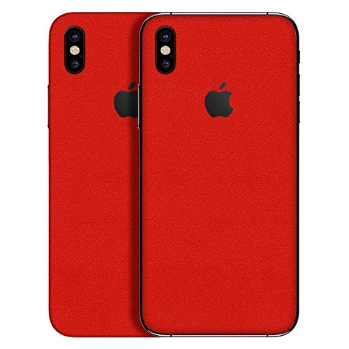 best website 3b137 828fc Premium Textured Vinyl Decal Skin Sticker Wrap Cover Body Easy-to-Apply  Compatible with iPhone X, iPhone X Plus by YoungMobileSkin (Matte Red,  iPhone ...