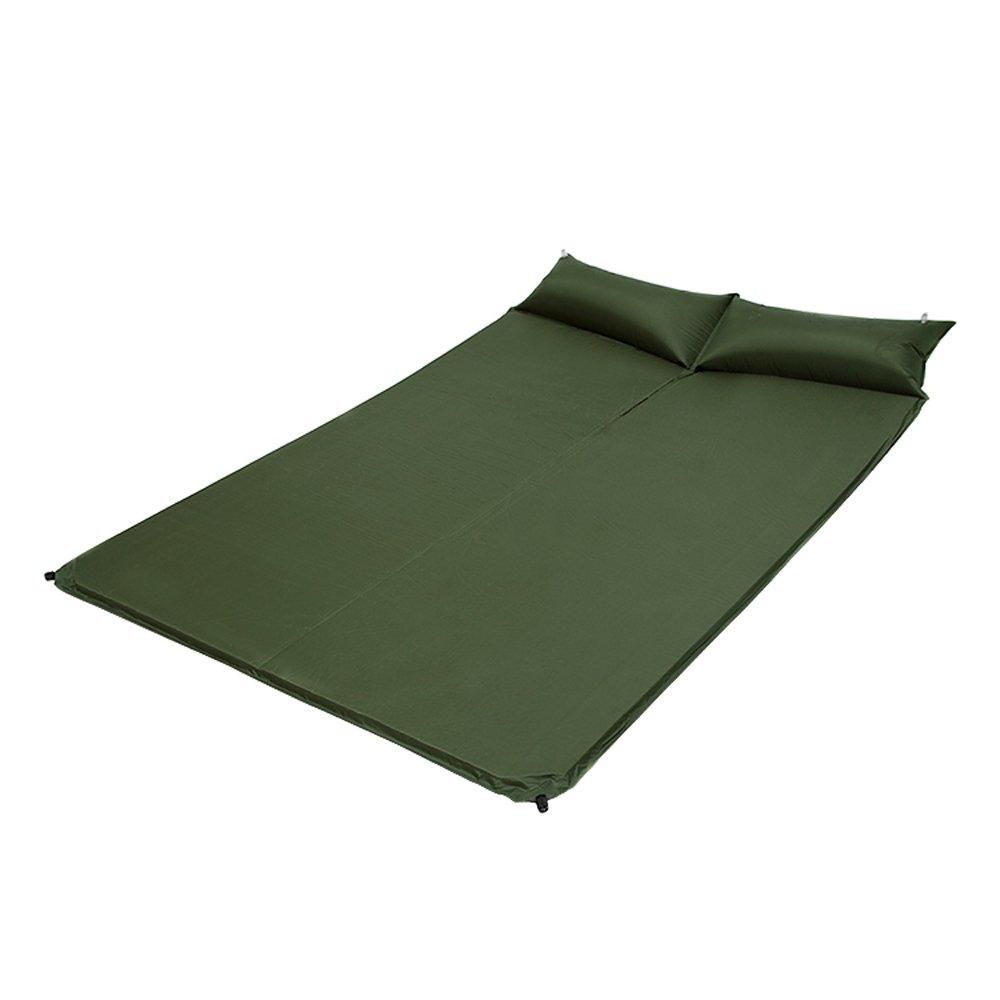 屋外枕の自動インフレータブルクッションキャンプダブルモイスチャライティングマットテント寝袋 B07DPJ7XTG