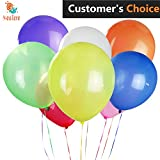 100 pcs Assorted Color Party Balloons, 12 Inches Premium Quality Helium Balloons For Party Wedding Decorations Birthday Decoration and Events Proposal, Holiday, Anniversary And other Celebrations