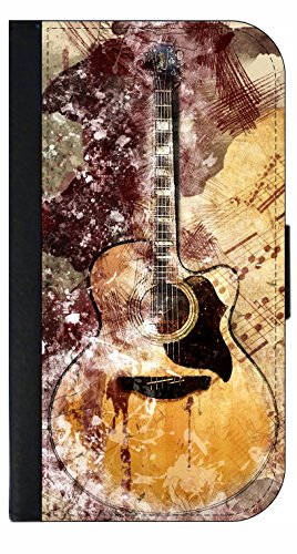 Guitar Art - Galaxy s3/s4/s5/s6/s6 Edge/s7/s7 Edge/s8/s8+ Wallet Style Phone Case - Select Your Compatible Phone Model