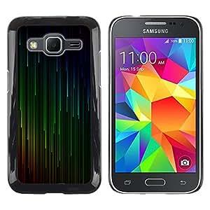 rígido protector delgado Shell Prima Delgada Casa Carcasa Funda Case Bandera Cover Armor para Samsung Galaxy Core Prime SM-G360 /Green Red Cyan Falling Stars/ STRONG