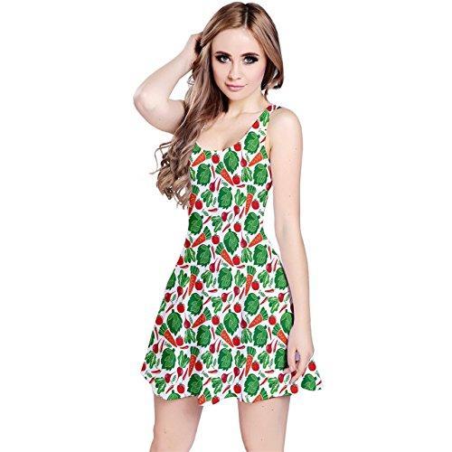 Vegetable Sleeveless Dress Pattern CowCow Green Womens qvxSRPp