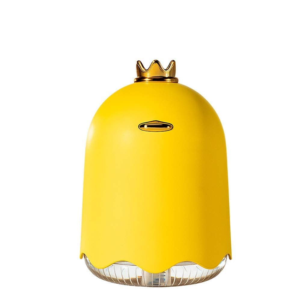 LC_Kwn USB Humidifier Personal Small Humidifier Humidifiers for Bedroom Home Baby (Color : Yellow)
