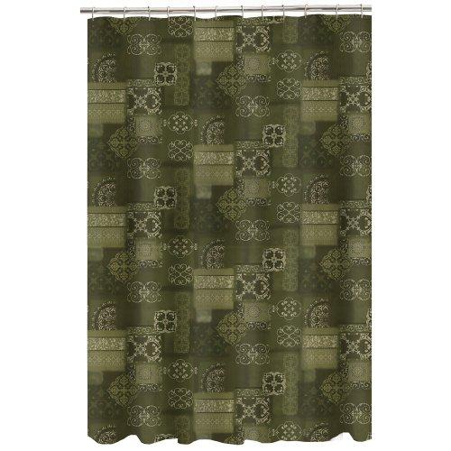 Maytex Mills Almeria Fabric Shower Curtain, Sage