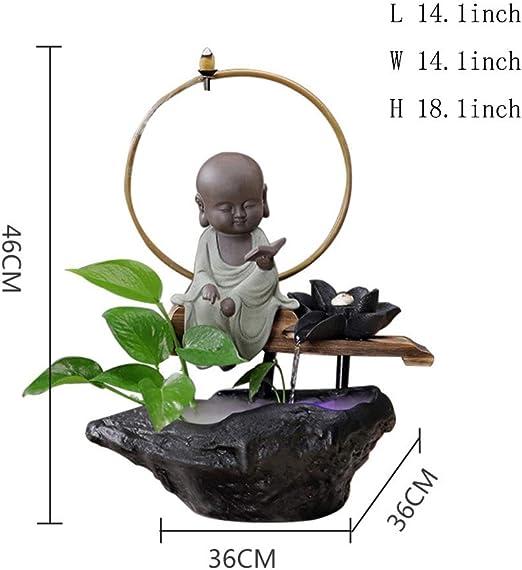 Estatuas Fuente cerámica,Fengshui decoración Interior Fuente de ...