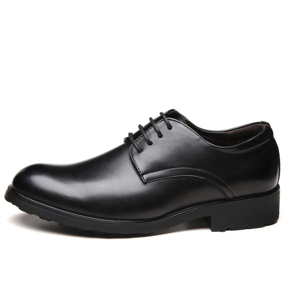 Havanadd Lederschuhe für Männer Komfortable Laufsohle aus Oxford Einfache, Klassische, Schuhe Reine Farbe Business Oxford Schuhe Klassische, (Farbe   Schwarz, Größe   46 EU) 572f21