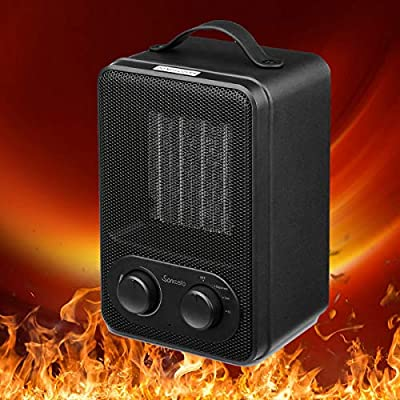 Sancusto Space Heater, Home Heater 1000/1800W Portable Personal Home Heater with 3 Modes Adjustable PTC Ceramic Heating Element for Office Home and Bedroom