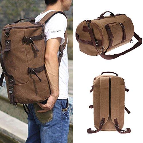 2 opinioni per Vintage Canvas Travel Backpack Rucksack Camping Hiking Bag