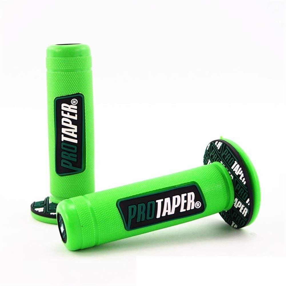 Color : Verde ZHENDA Motocicleta Manilla Barra Parte Racing Motocicleta para Protaper Husqvarna Yamaha K T M Grip pit Accesorios universales cubierta de la caja del cambio