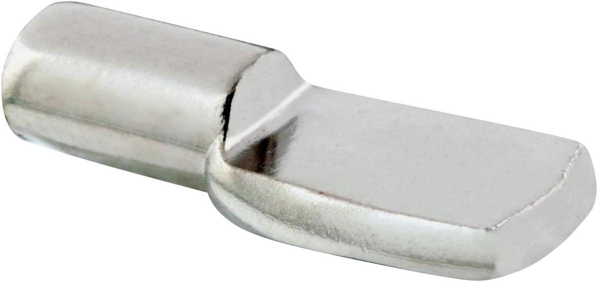 Rok Hardware Heavy Duty Shelf Pin Spoon Shaped Cabinet Support Pegs Holder Metal Nickel (50, 5mm)