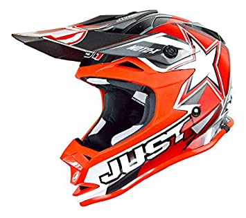 JUST1 J32 Pro – Casco para moto x, color rojo, tamaño 50-ym