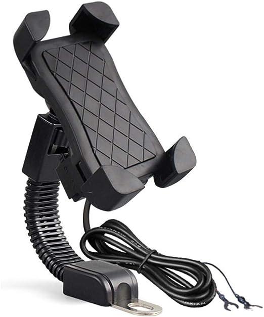 Sunflowerany Soporte de teléfono móvil para Motocicleta, Cargador ...