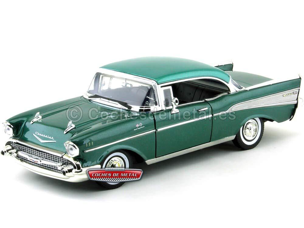 1957.- CHEVROLET BEL Air Coupe Verde (MX73180GR). Motor MAX 73180 GR Cochesdemetal.es