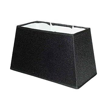Better & Best 2393304 Abat-jour rectangulaire en coton, 30cm, lisse Noir