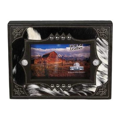Rivers Edge Products 4 X 6-Inch Cowhide Picture Frame Cowhide Picture Frame